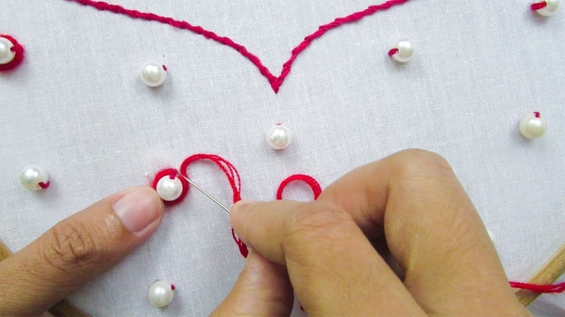 Hand Embroidery All Over Design for Dresses Neck Design for Kurties