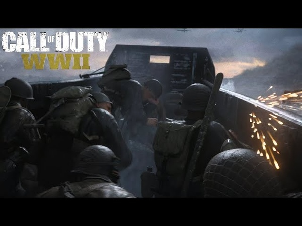 Call of Duty WWII D-Day 4K60 HDR PS4 Pro Gameplay
