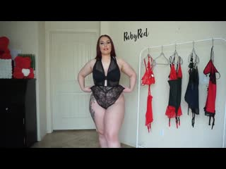 Adam and Eve BlackRed Lingerie Try-On Haul _ Ruby Red