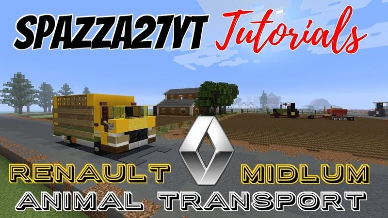Minecraft Renault Midlum Truck Animal Transport Tutorial