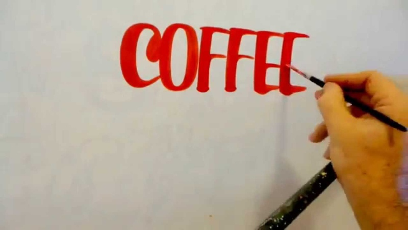 Hand Lettering by John King Give me coffee