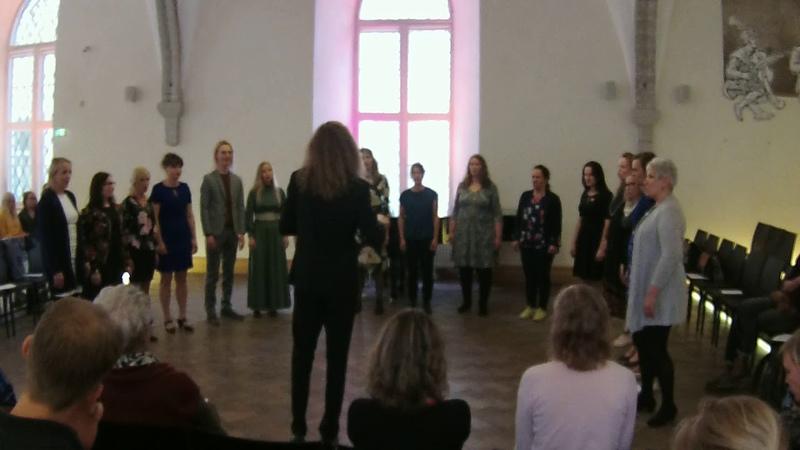 Kristjan Kannukene improchoir in Great Guild Hall 2 05 2018