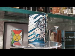 Zippo 49046 Patriotic Design, High Polish Blue 360 MultiCut, Premium box.