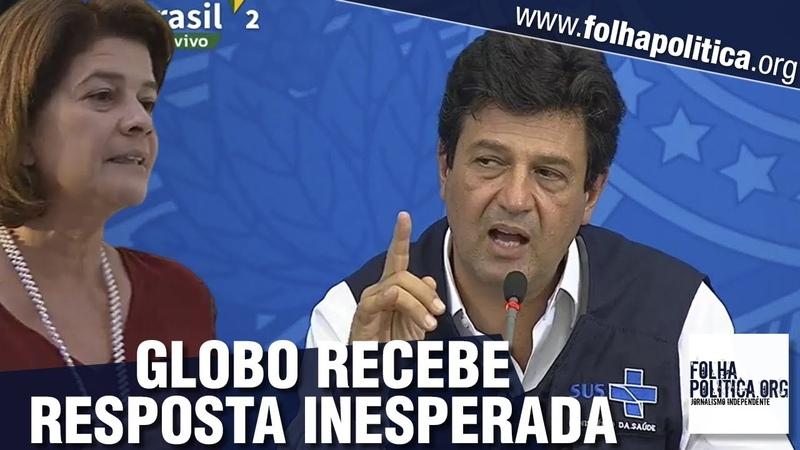 Jornalista da Globo tenta jogar Mandetta contra Bolsonaro e recebe resposta inesperada