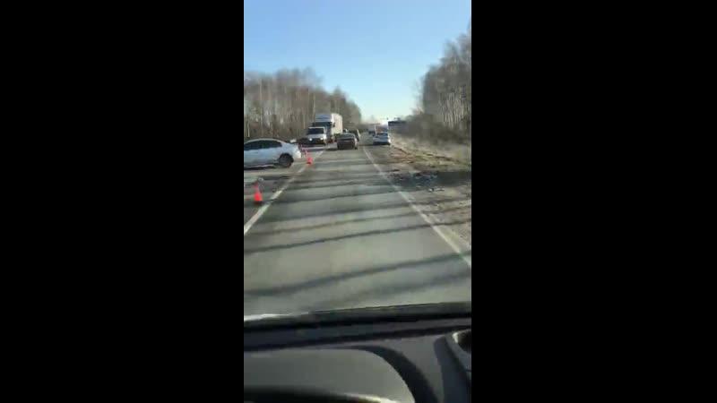 ДТП перед поворотом на Дрезну