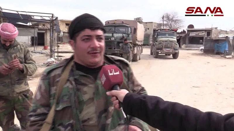 كاميرا سانا برفقة وحدات الجيش في قرية الزربة ومنطقة إيكاردا بريف حلب الجنوبي الغربي