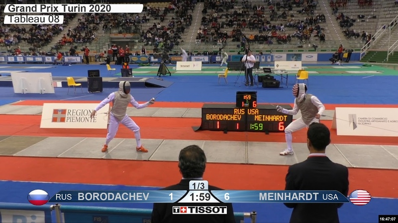 2020 134 T08 04 M F Individual Turin ITA GP RED MEINHARDT USA vs BORODACHEV RUS