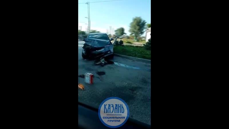 Авария на пересечении Воровского Ибрагимова