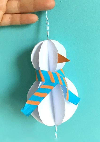 ЕЛОЧНЫЕ ИГРУШКИ ИЗ БУМАГИ Цветная бумага - самый доступный материал для детского творчества. Самодельные елочные игрушки из бумаги очень популярны. Предлагаем вам сделать вместе с ребенком вот