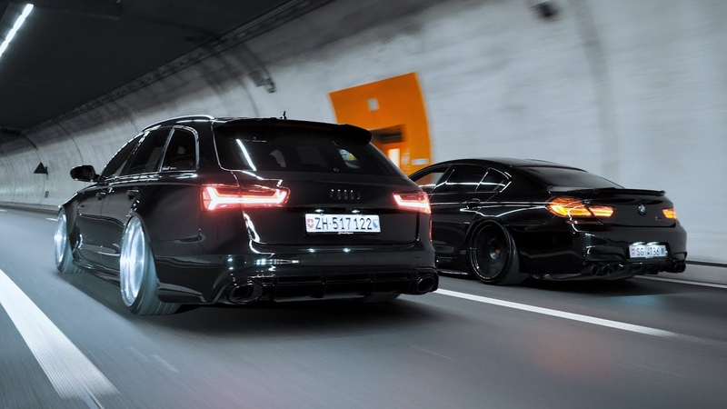 Through The Late Night Audi RS6 X BMW M6 4K
