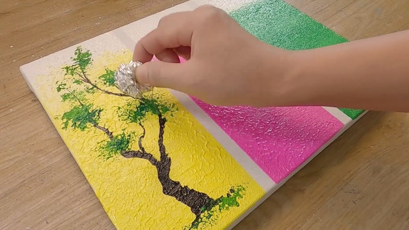 How to paint 3 Different Trees for Beginners Simple Acrylic Painting Techniques