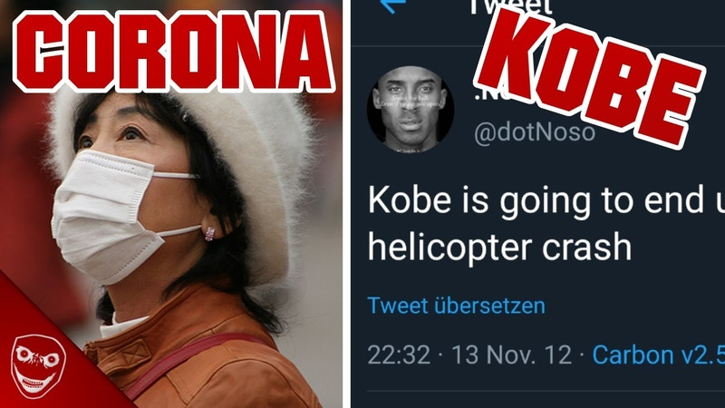 Kobe Twitter Vorhersage und Corona Virus Gruselige Dinge aus dem Internet