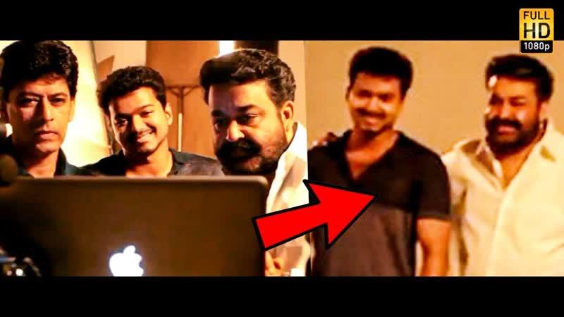 VIDEO Thalapathy Vijay Mohan Lals Super Mass Candid Moments 🔥 00 00 43 00 01 14
