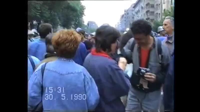 30 mai 1990 Piata Universitatii filmare furata de la S R I 1