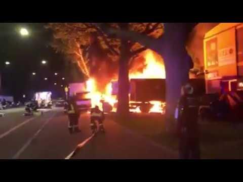 Brandanschlag auf Stuttgarter Querdenken Demo Sprengsatz unter LKW angebracht