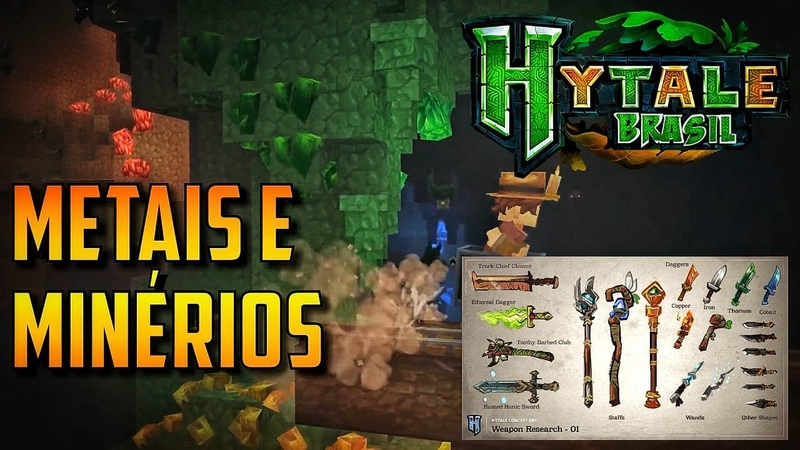 Os Metais e Minérios de Hytale - Hytale Brasil
