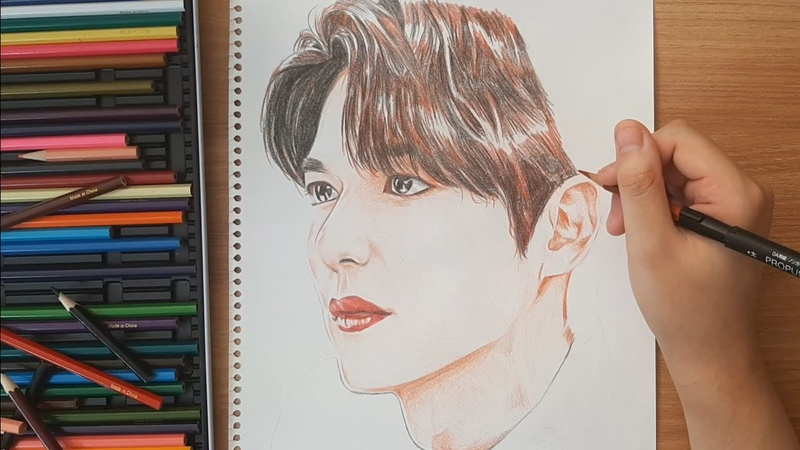 Drawing Lee Min Ho drama The King Eternal Monarch 더킹 영원의 군주 이민호 그림 그리기 행성이 그림 아무생각없이 보는 힐링영상
