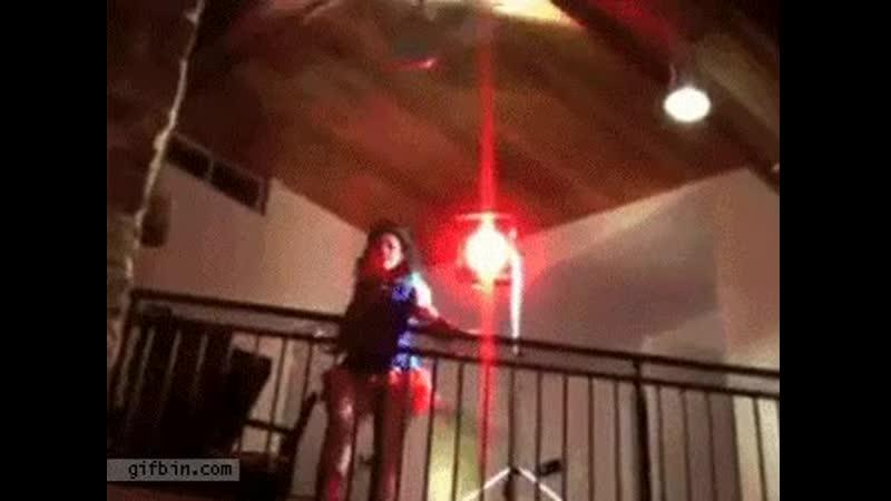 Girl\s head vs. ceiling fan