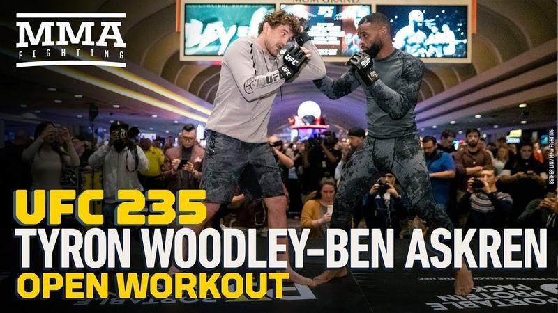 UFC 235 Tyron Woodley, Ben Askren Open Workout (Complete) - MMA Fighting