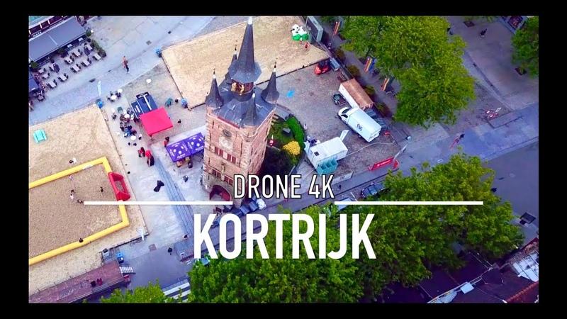 KORTRIJK COURTRAI Drone 4K Belgium Belgie Belgique
