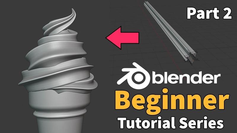 Blender 2.8 Beginner Tutorial - Part 2 Modifiers