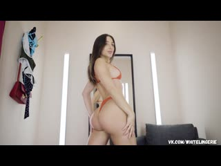 Abella Danger try on thong Bodysuit Swimsuit Bikini pornstar sexy big ass teasing hot body model glamorous lingerie нижнее белье
