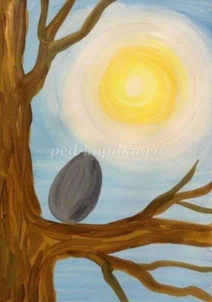 Рисуем скворца гуашью Автор: Яковлева Наталья Анатольевна