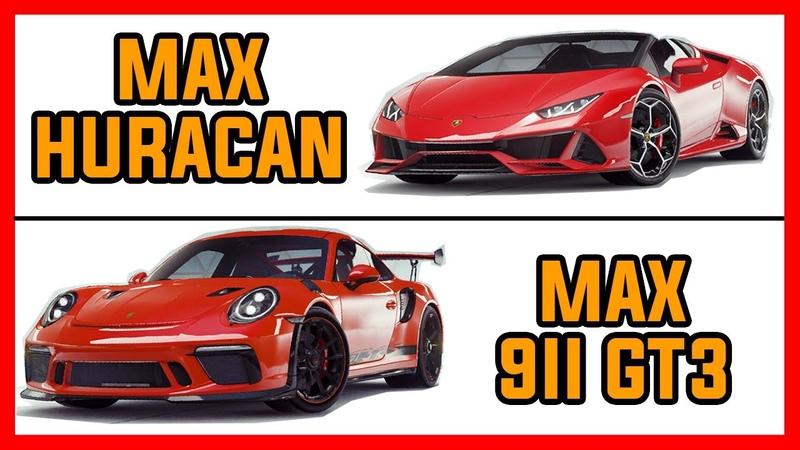 MAX Porsche 911 GT3 VS MAX Lamborghini Huracan Evo Asphalt 9 Legends