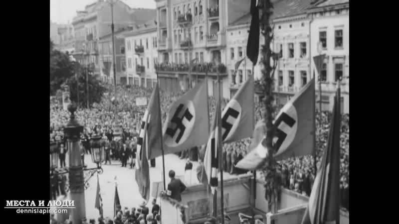Парад рекрутів до дивізії Галичина у Львові 18 липня 1943 р