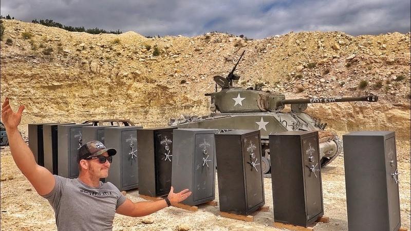 Cнаряд танка против бронированных оружейных сейфов   Разрушительное ранчо   Перевод Zёбры