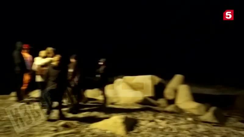 Видео операции по спасению детей унесенных в Черное море вблизи Сочи