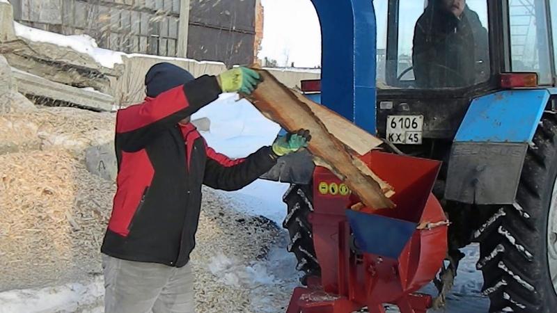 Полевые испытания Утилизатора У650 ВОМ переработка горбыля