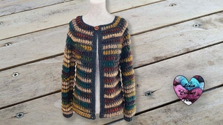 Gilet 1000 cocoons crochet by Lidia Crochet Tricot