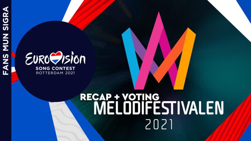 Eurovision 2021 Sweden Melodifestivalen 2021 All Songs Blog Voting