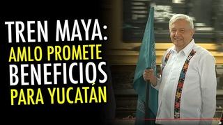 Tren Maya, el Presidente anuncia planes de mejoramiento urbano para municipios de Yucatán