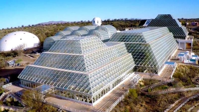 Их на 2 года закрыли под стеклянным куполом Биосфера 2 крупнейшая из искусственных экосистем
