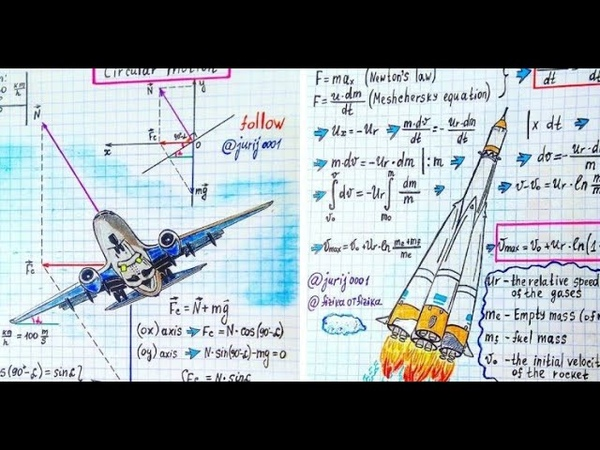 TOP 10 of my best notes Physics and Engineering Physics teacher makes art out of formulas