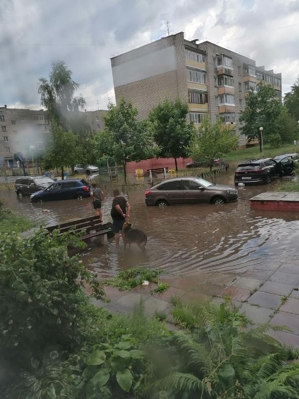 сильный ветер и ливень в Сарове