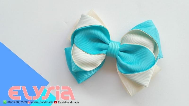 Laço Cruzado Two Tone 🎀 Ribbon Bow 🎀 DIY by Elysia Handmade