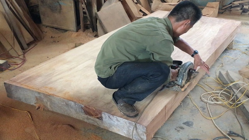 How To Build A Extremely Large Dining Table From Hardwood Amazing Woodworking Project