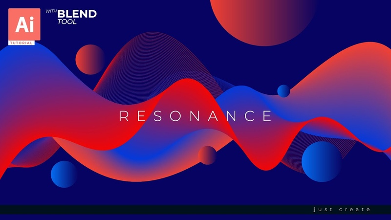 How to Create Abstract Background in Adobe Illustrator with Blend Tool | EPS.05