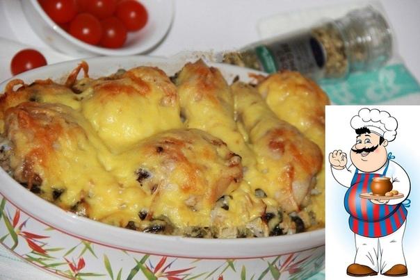 Куриные ножки с картошкой и грибами в духовке. Хочу поделиться простым, но очень сытным рецептом приготовления куриных ножек с картошкой и грибами в духовке. Особенно вкусным это блюдо