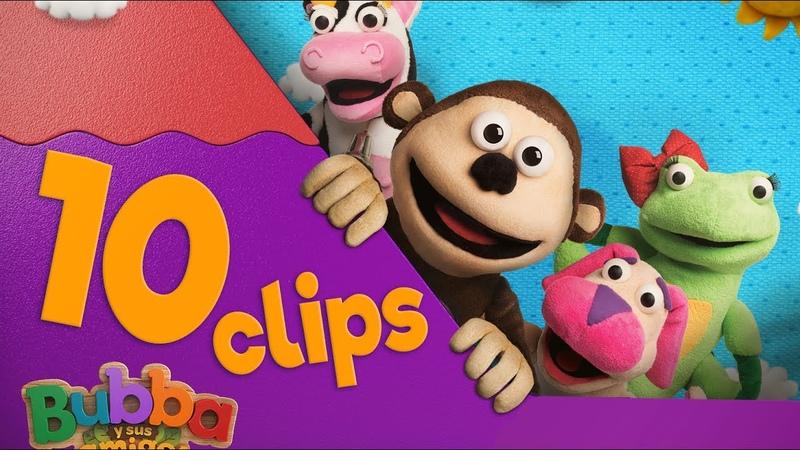 Maratón 10 Clips Mono Bubba y sus amigos Videos infantiles HD