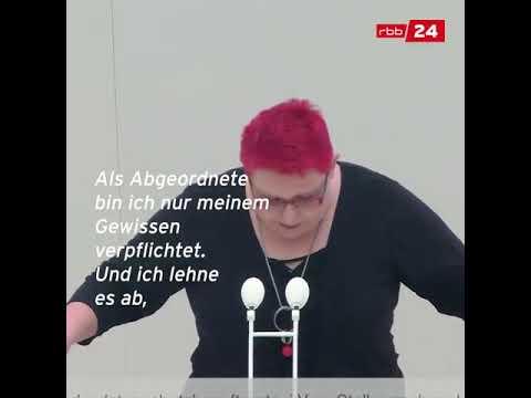 Andreas Johlige Linke weigert sich Andreas Galau AfD zu begrüßen Und wird des Saals verwiesen