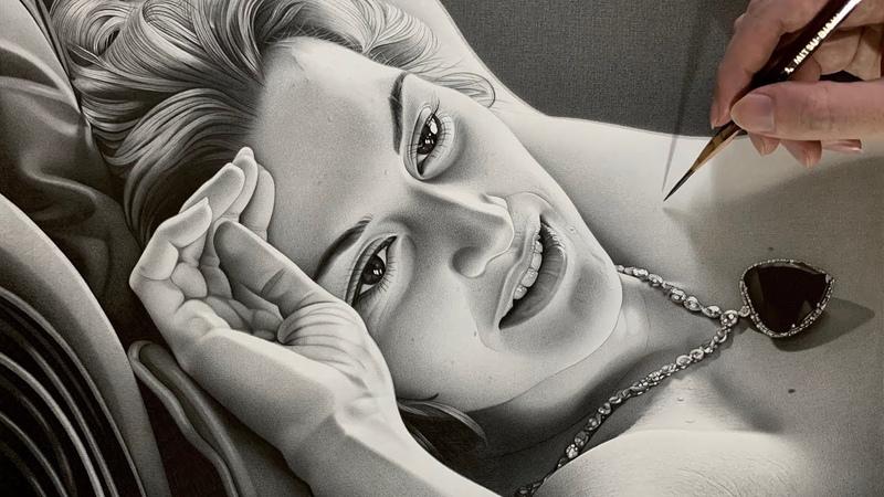 鉛筆画 タイタニックのデッサンシーン Pencil Drawing TITANIC Rose 4