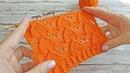 КРАСИВЫЙ Ажурный Узор Спицами | How to knit Lace pattern