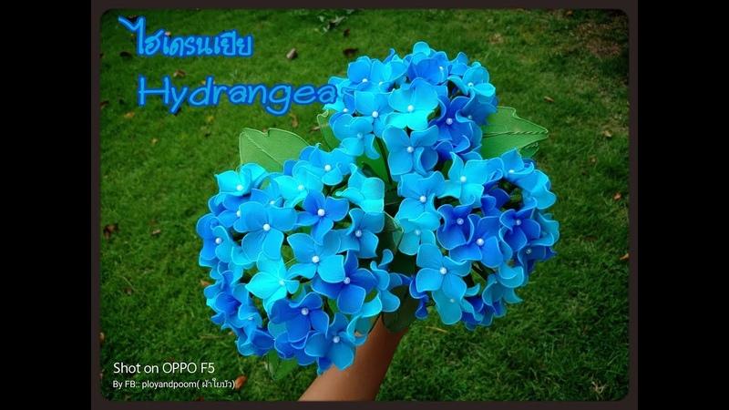EP159 ดอกไฮเดรนเยีย Hydrangea flowers nylon flower by ployandpoom