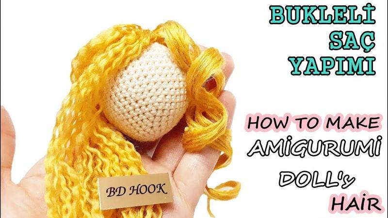 Amigurumi Bebeklere Bukleli Saç Yapımı How To Make Your Amigurumi Doll's Hair