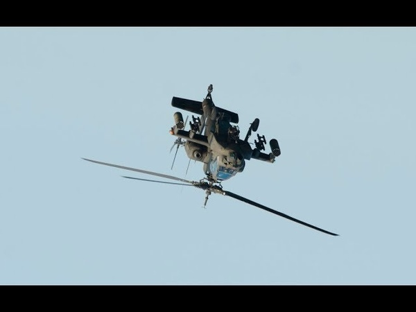 AH 64A Apache maneuverability demonstration loop barrel roll