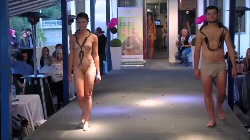 Nude Fashion on the Boat Prague